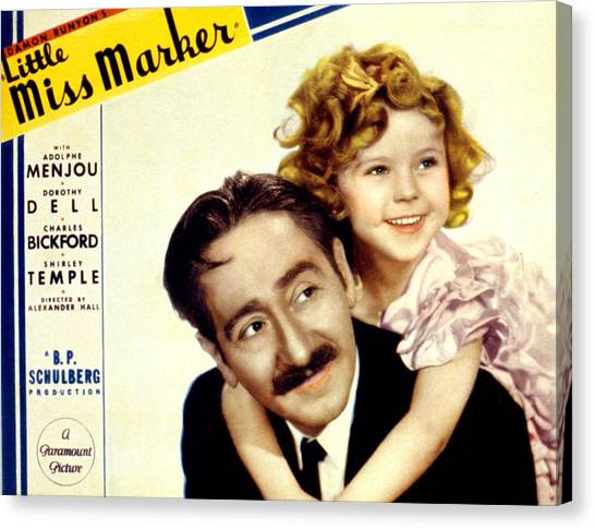 Little Miss Marker, Adolphe Menjou Canvas Print by Everett