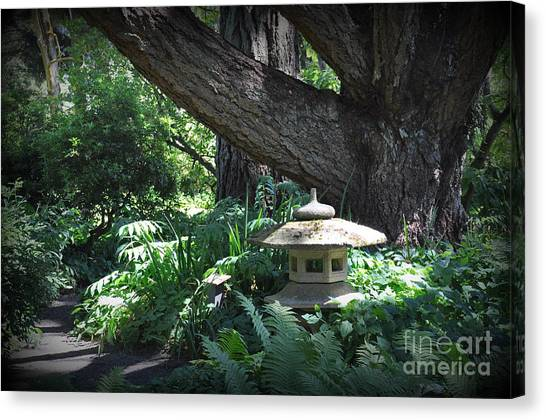 Little Pagoda Under The Big Tree Canvas Print by Tanya  Searcy