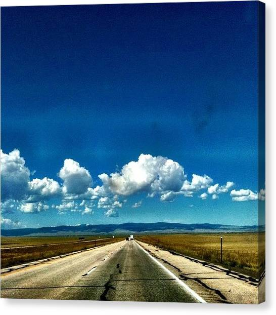 Wyoming Canvas Print - Little Puffy Clouds by Christopher Campbell