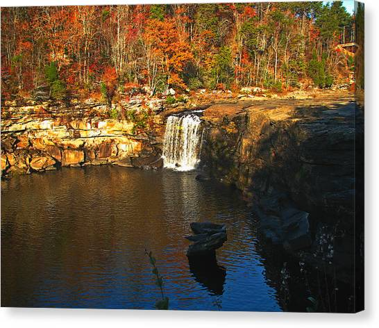 Little River Canyon 6412 Canvas Print by J D  Whaley