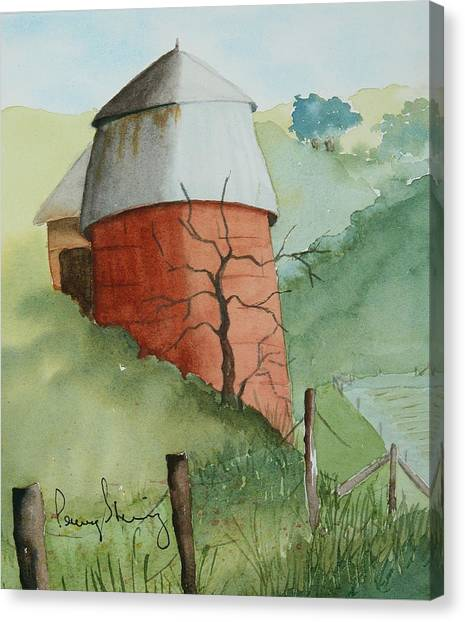 Little Silo Canvas Print