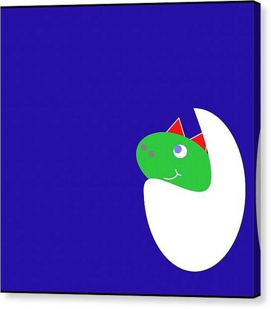 Dinosaurs Canvas Print - Little Steggy. Nursery Print Soon To Be by Noisy Merriment
