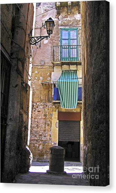 Little Street Of Palermo Canvas Print