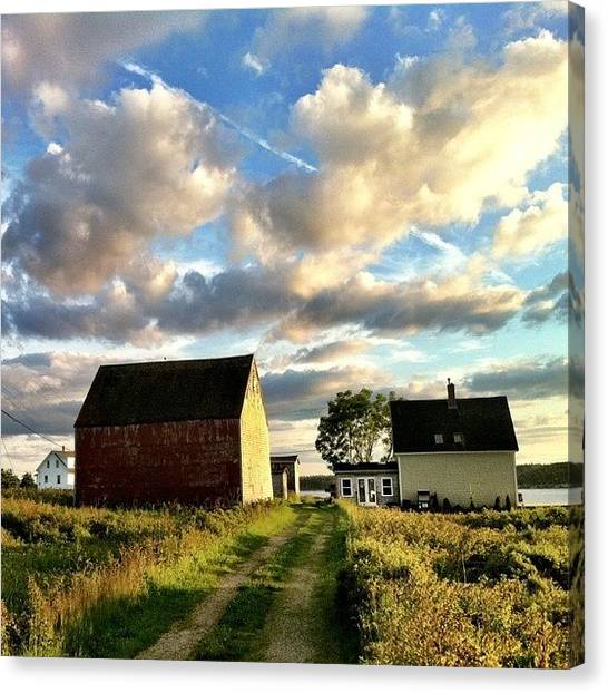 Skylines Canvas Print - Little Tancook Island Farmhouse by Luke Kingma