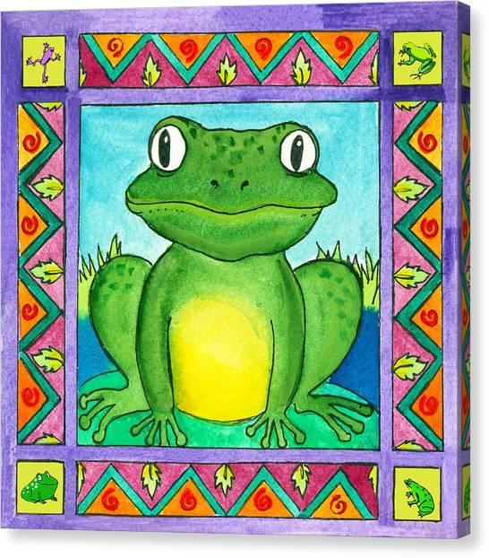 Little Toad Canvas Print by Pamela  Corwin