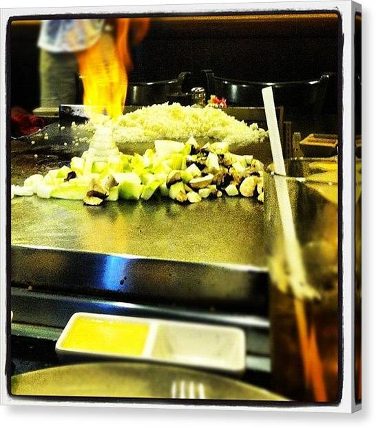 Grills Canvas Print - #littletokyo #food #yummy #fire #grill by S Smithee