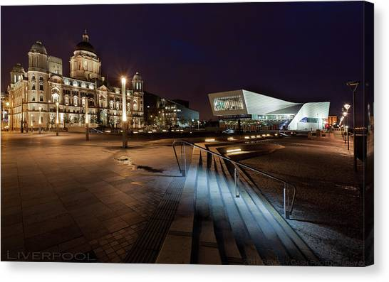 Liverpool - The Old And The New  Canvas Print