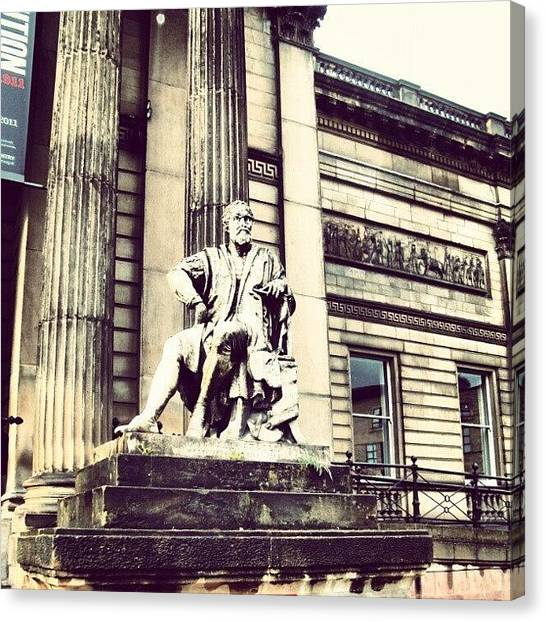 Follow Canvas Print - #liverpool #museum #museums #guy #stons by Abdelrahman Alawwad