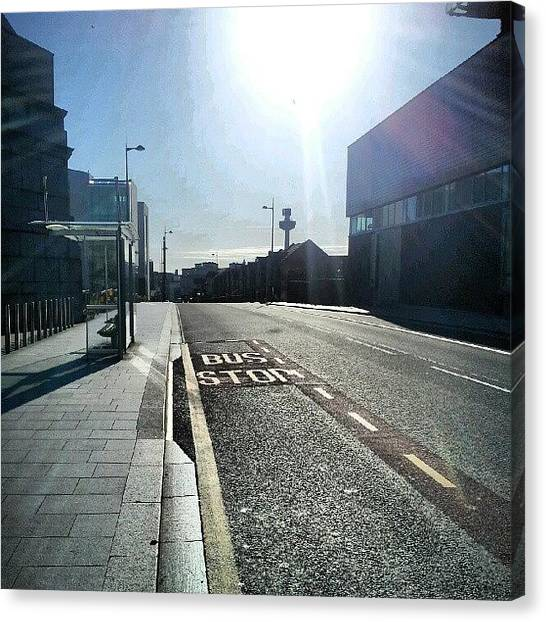 Instago Canvas Print - #liverpool #uk #england #bus #busstop by Abdelrahman Alawwad