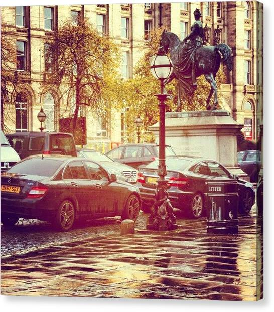 Wet Canvas Print - #liverpool #uk #england #museum #cars by Abdelrahman Alawwad