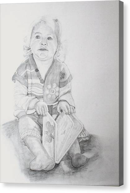 Livvy  Canvas Print by Peter Edward Green