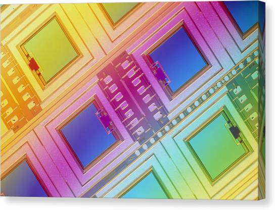 Lm Of Micromechanical Accelerometers Canvas Print by Volker Steger
