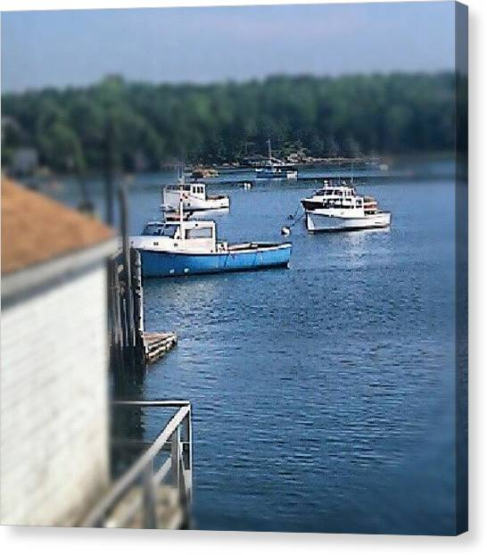 Lobster Canvas Print - Lobster Boats #maine #lobster by Chuck Caldwell