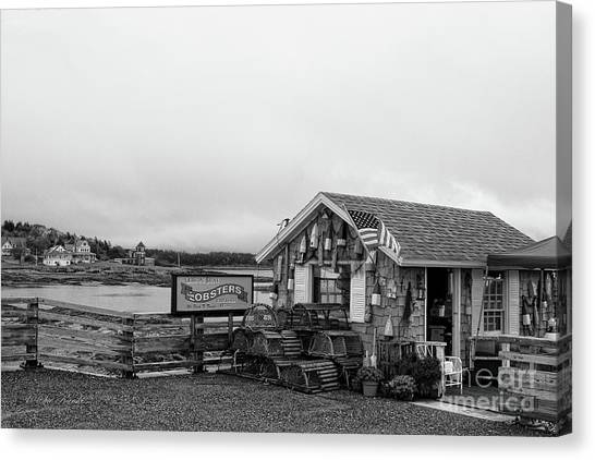 Lobster House Bw Canvas Print