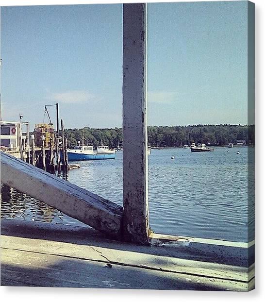 Lobster Canvas Print - #lobster #lobsterboats #ocean #maine by Chuck Caldwell