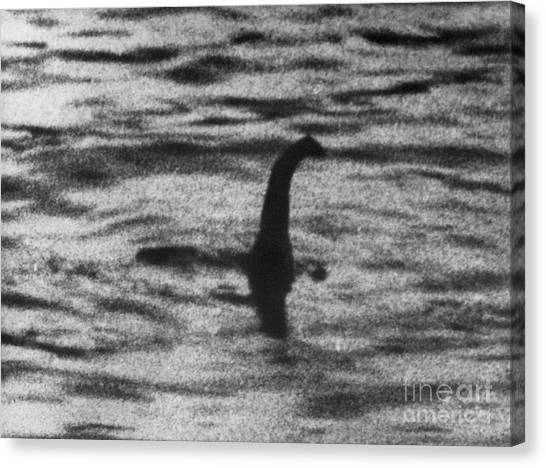 Folktale Canvas Print - Loch Ness Monster by London Daily Mail