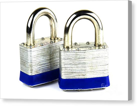 Lock Canvas Print - Locks by Blink Images