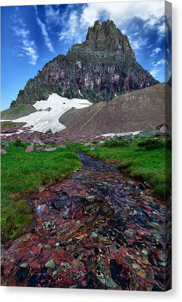 Logan Pass View Canvas Print