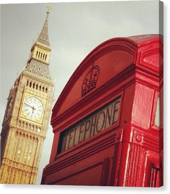 Queens Canvas Print - #london #bigben #telephone #sky #my by Isidora Leyton