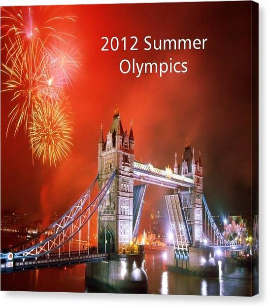 London Bridge 2012 Olympics Canvas Print by Florene Welebny
