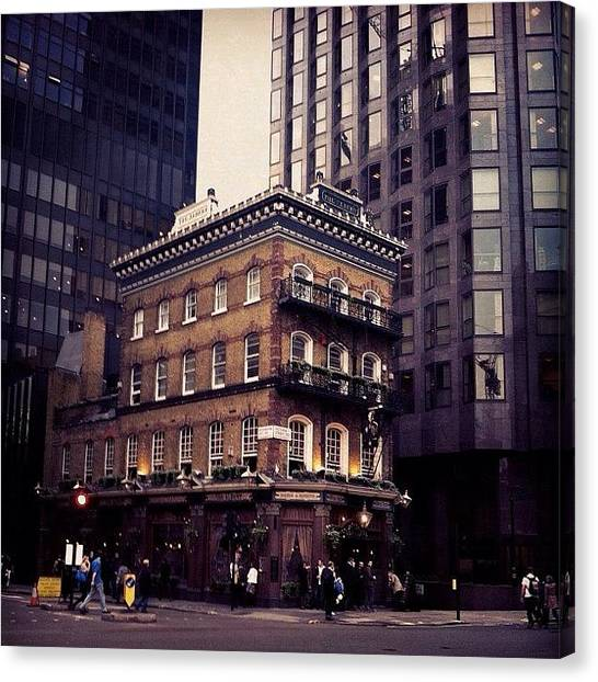 Pub Canvas Print - #london #england #albert #pub #urban by Silvestrs Usins