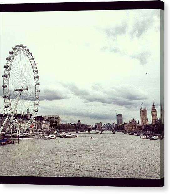Parliament Canvas Print - London Eye & Parliment by Paul Mcdonnell