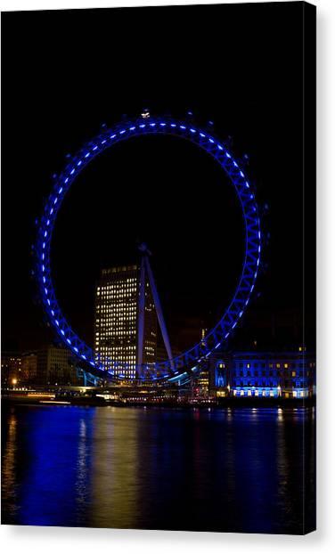 London Eye And River Thames View Canvas Print