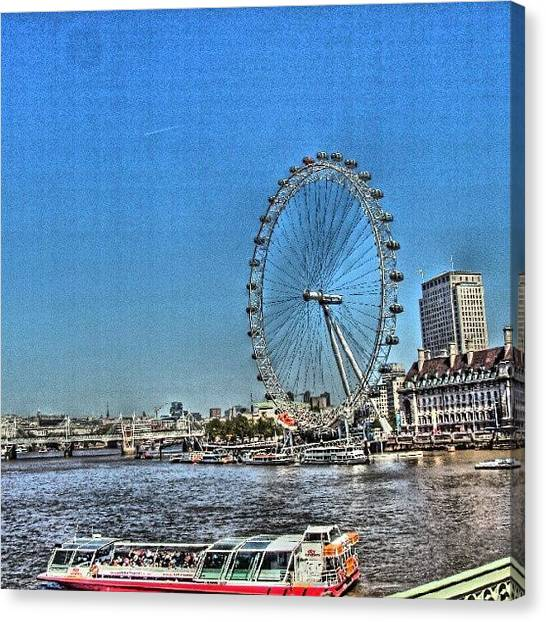London Canvas Print - London Eye, #london #londoneye by Abdelrahman Alawwad