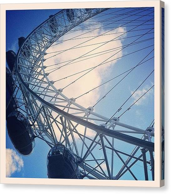 London Eye Canvas Print - #london #eye #wheel by Ali Hilton