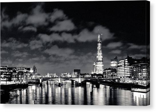 London Lights At Night Canvas Print