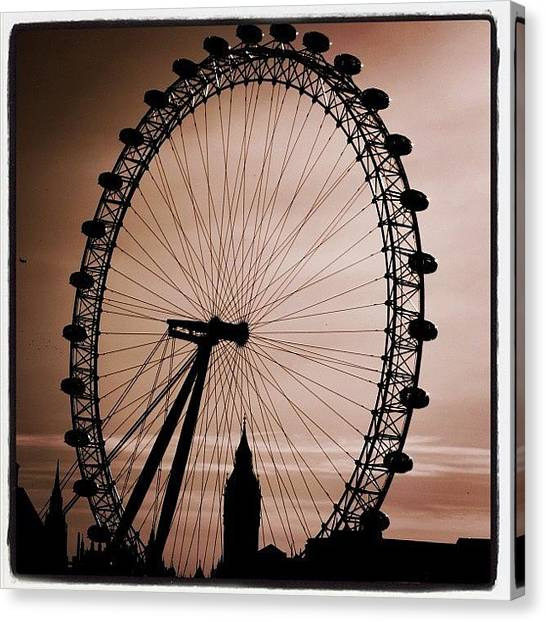 London Canvas Print - #london #londoneye #bigben by Ozan Goren