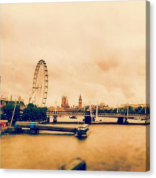 Parliament Canvas Print - #london #londoneye #riverthames #river by Taha Aitabi