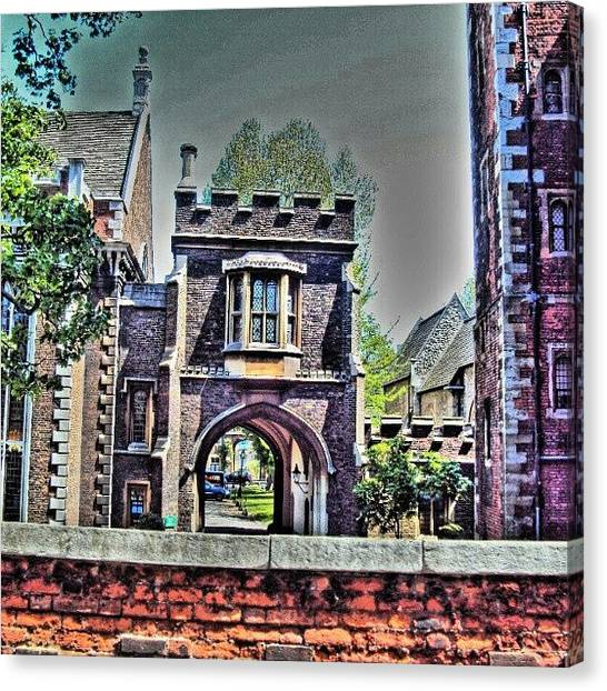 Fantasy Canvas Print - #london #manchester #uk #stone by Abdelrahman Alawwad