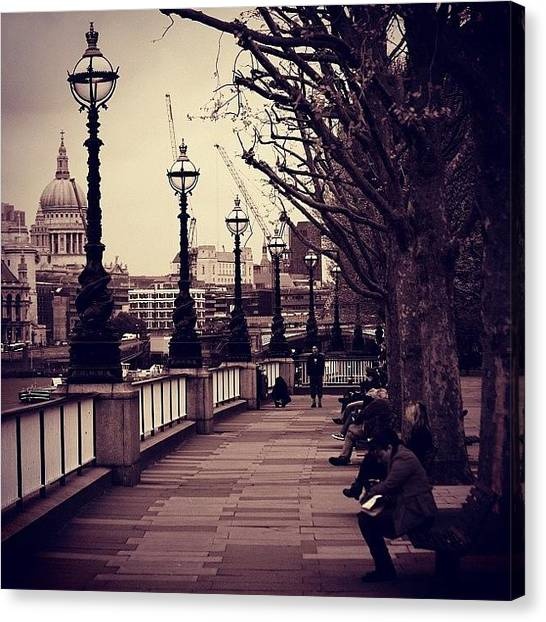 London Canvas Print - #london #southbank #stpaul by Ozan Goren