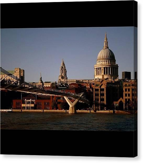 Rivers Canvas Print - #london #stpaul #thames #river by Ozan Goren