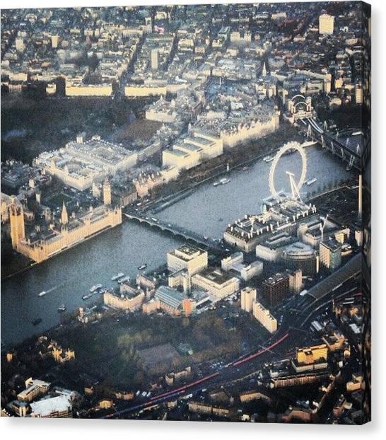 England Canvas Print - #londoneye #bigben #thetimes #river by Abdelrahman Alawwad
