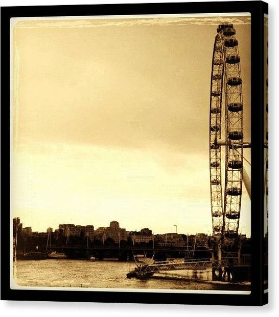 London Eye Canvas Print - #londoneye #london #eye #england by Marco Santos
