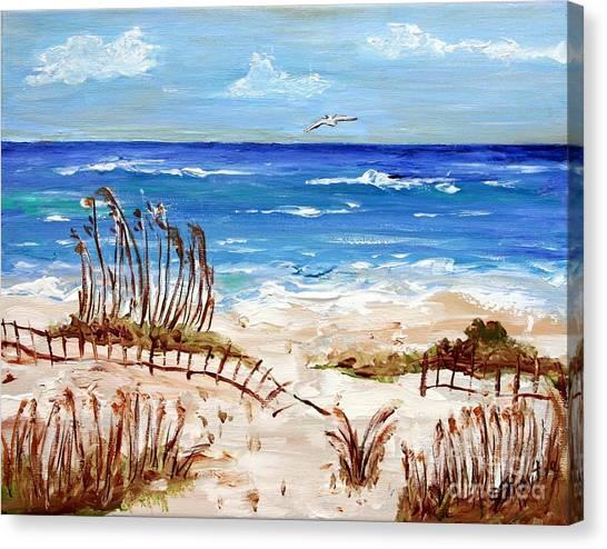 Lone Gull Canvas Print