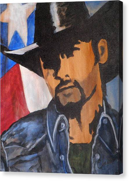 Lone Star Cowboy Canvas Print