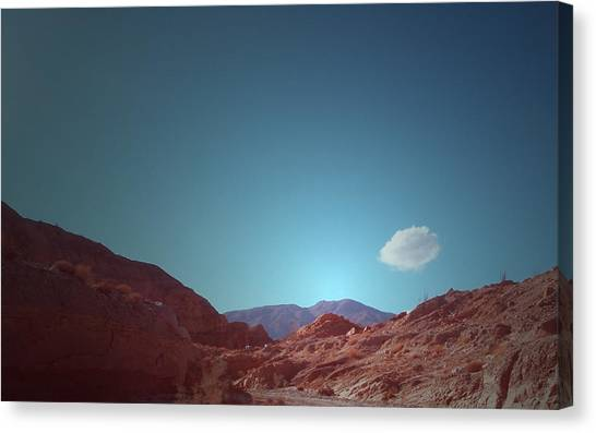 Death Valley Canvas Print - Lonely Cloud by Naxart Studio