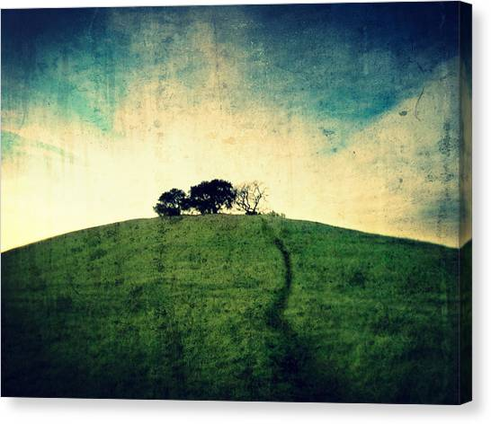 Canvas Print featuring the photograph Lonely Hill by Matt Hanson