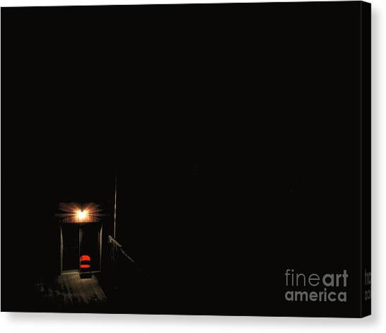 Lonely Red Chair Canvas Print by Chris Traber