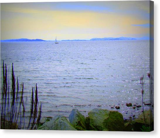 Lonely Sailboat II Canvas Print