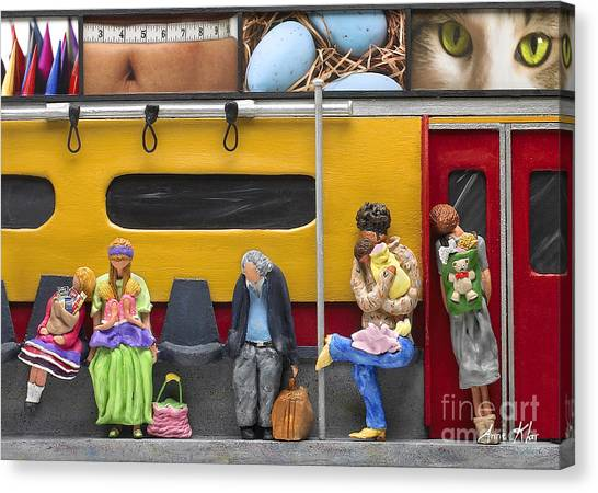 Lonely Travelers - Crop Of Original - To See Complete Artwork Click View All Canvas Print