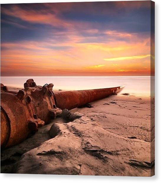 Canvas Print - Long Exposure Sunset At Cardiff State by Larry Marshall