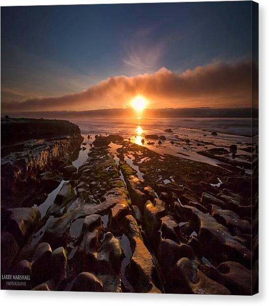 Canvas Print - Long Exposure Sunset In La Jolla by Larry Marshall