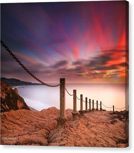 Canvas Print - Long Exposure Sunset Shot From The by Larry Marshall