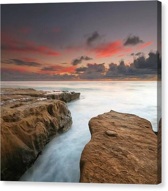 Long Exposure Sunset Taken Just After Canvas Print by Larry Marshall