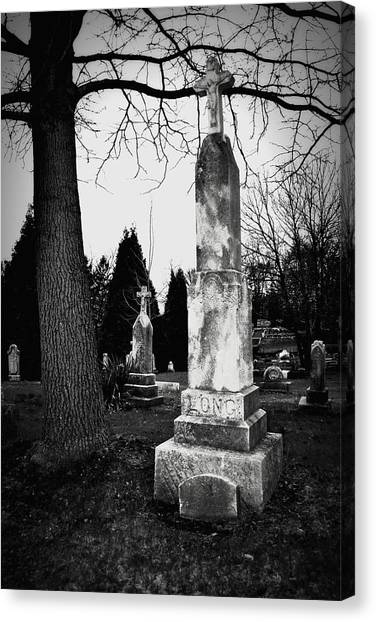 Long Grave Canvas Print
