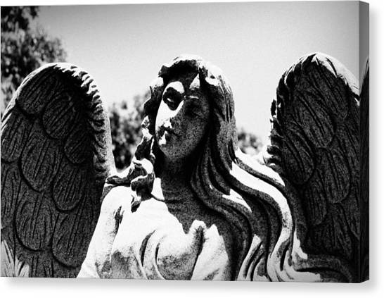 Long Haired Angel Canvas Print